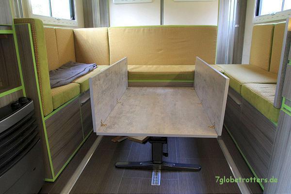 Berühmt ᐅ Ein klappbarer Tisch für mehr Platz im Expeditionsmobil UX61