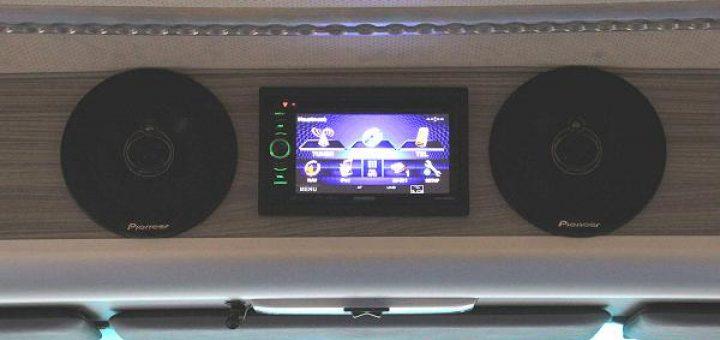 Kein 24 V LKW Radio: Im MB 1124 erfolgte der Anschluss über die 12 V Stromversorgung aus dem Koffer