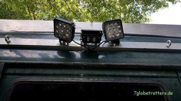 Heckleuchtenträger mit Rückfahrkamera auf dem Kastenwagen