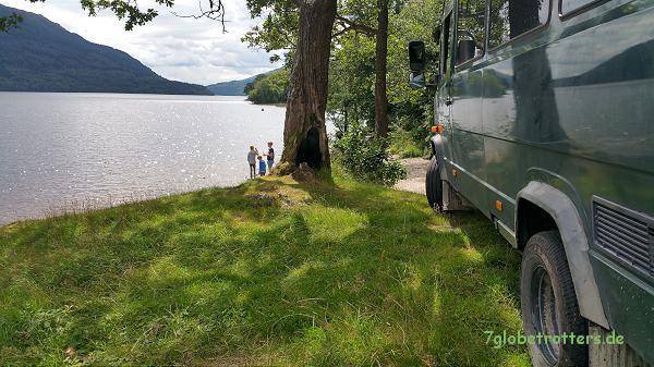 Traumstrand am Loch Lomond / Schottland
