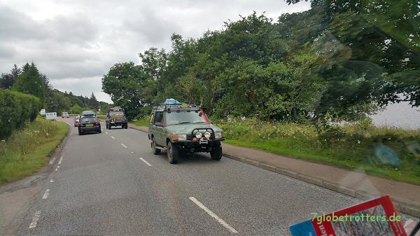 Landrover in Schottland