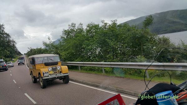 Auf dem Weg zum Greenlaning in Schottland: Ein besonder Land Rover Serie I