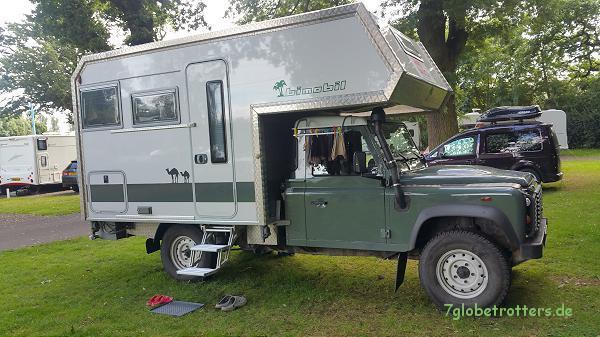 Land Rover mit Bimobil-Kabine