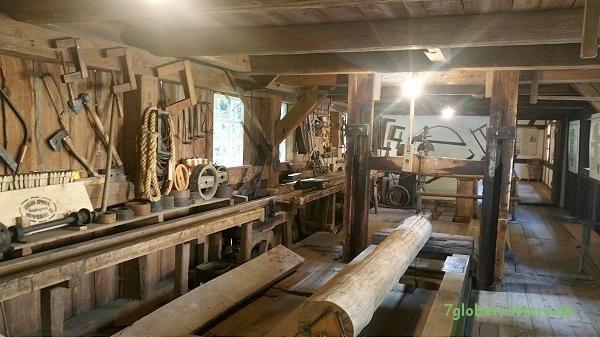 Gattersäge im Mühlenmuseum der Neumannmühle