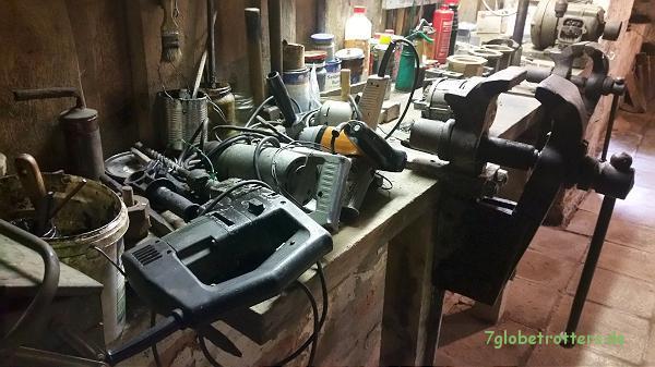Altehrwürdige Maschinen im Mühlenmuseum der Neumannmühle