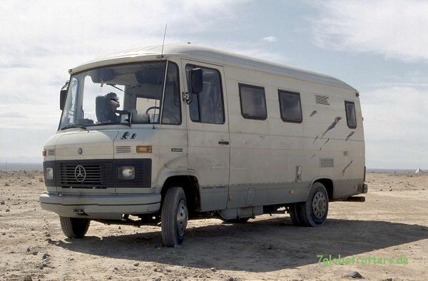 Kaufberatung MB 508 D: auf Grundlage der Checkliste ist es bei mir dieser umgebaute MB 508 Kastenwagen geworden. Farbe und Aufkleber habe ich dabei billigend in Kauf genommen.