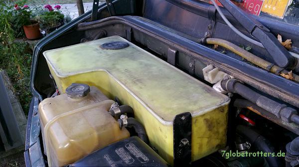 Scheibenwaschanlage mit extra großem Tank