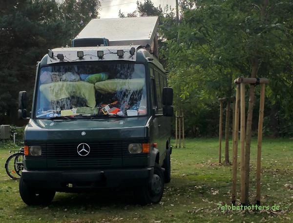 Einblicke ins Hubbett auf dem Naturcamp Pruchten
