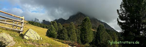 Geislerspitzen in den Wolken