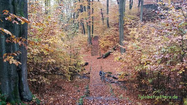 Treppenanlagen sind nicht unbedingt der Bringer auf dem Radweg