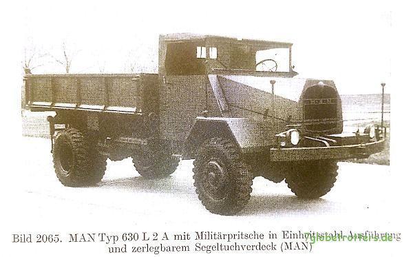 MAN 630 (entnommen aus Trzebiatowsky - Die Kraftfahrzeuge und ihre Instandhaltung, S. 1211)