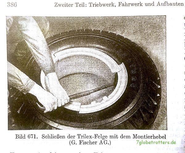 Schließen der Trilex-Felge (entnommen aus Trzebiatowsky, a.a.O., S. 386)