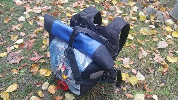 Wasserdichte Ortlieb Frontroller als Schultasche