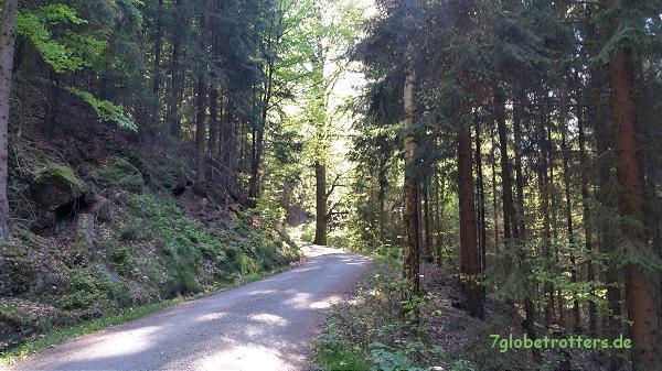 Aufstieg zum Der Kuhstall in der Sächsischen Schweiz