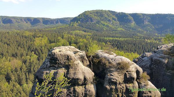 Aussicht vom Kuhstallplateau zum Kleinen Winterberg