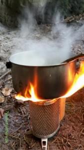 Kochen mit dem Biolite