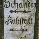 Historische Wegweiser in der Sächsischen Schweiz