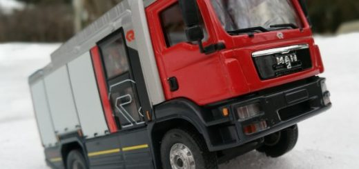 MAN TGM Rosenbauer Feuerwehr im Schnee