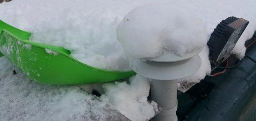 Dem Tropendach macht der Schnee nichts aus