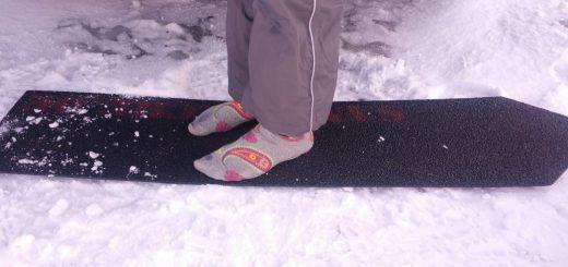 GfK-Sandbleche sind im Schnee schön fußwarm