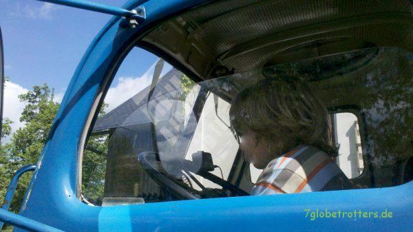 Probesitzen im Praga FEK Fäkalienkraftwagen