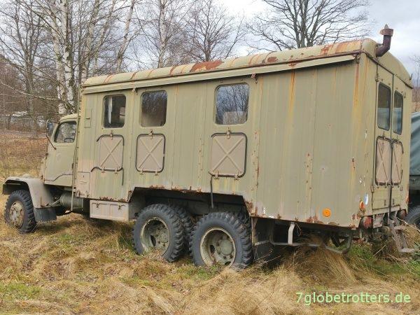 Praga V3S Werkstattwagen mit interessantem Ganzstahlkoffer für ein Expeditionsmobil