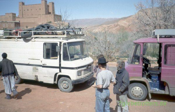 Bustreffen in der Dadesschlucht: MB 406 D und MB 407 D