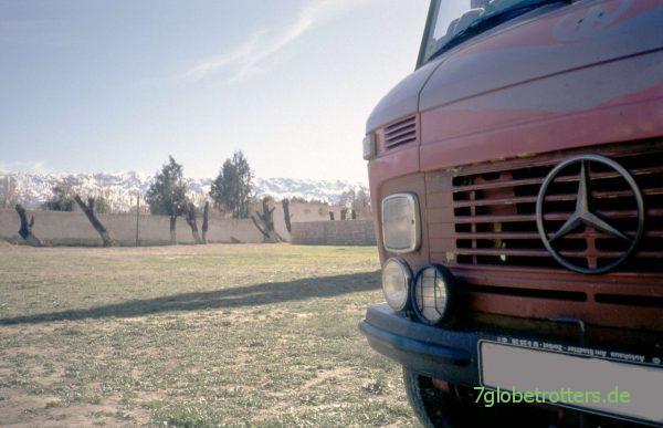 Atlaspanorama auf dem Campingplatz Midelt