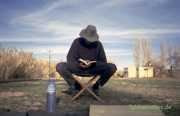 Endlich mal in Ruhe lesenauf dem Campingplatz Midelt