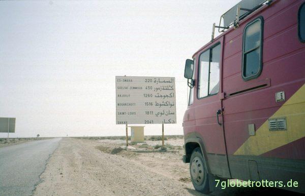 Der MB 407 D auf dem langen Weg nach Süden