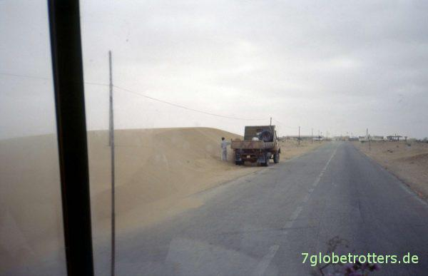 Sandgrube für lokale Bauten