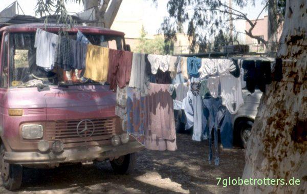 So sieht ein Ruhetag aus: Wäsche waschen