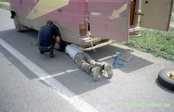 Wieder einmal ist ein Reifen platt