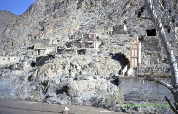 Die alten Hütten der Bergleute