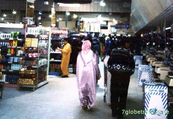 Im Hypermarché von Rabat
