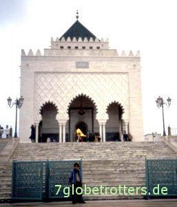 Das Mausoleum von Mohammed V in Rabat