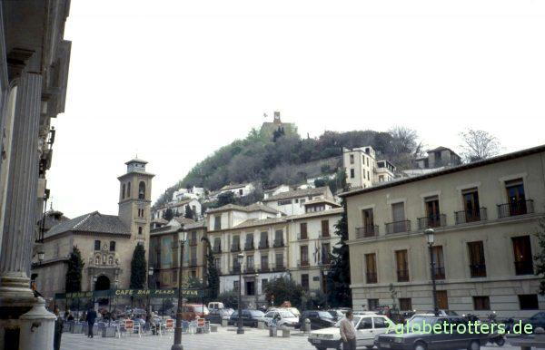 Granada, Blick zur Alhambra