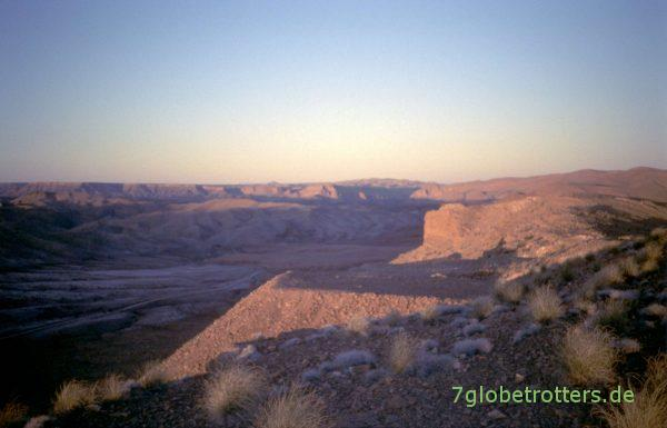 Sonnenuntergang über den Mineralienfeldern