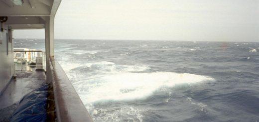 Stürmische See auf dem Weg nach Marokko
