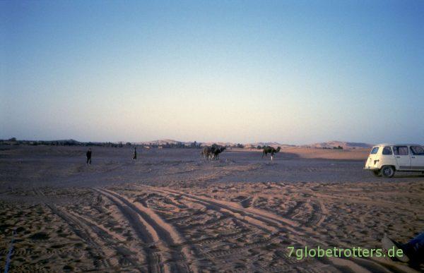 R4 in der Wüste bei Merzouga