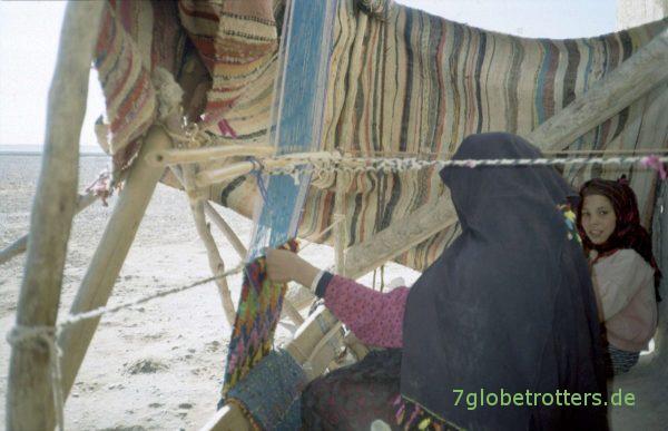 Teppich weben in Marokko