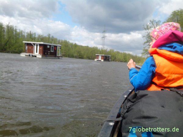 Paddeln mit Kindern statt im Hausboot auf dem Havelkanal