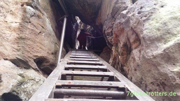 Aufstieg zum Hockstein durch die Wolfsschlucht