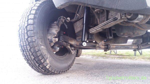 Höherlegung, neue Reifen und verstärkte Stoßdämpfer Vario/T2