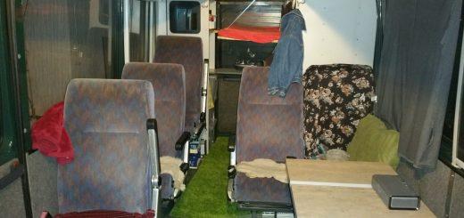 Der MB 711 D nach der Umschlüsselung zum Wohnmobil