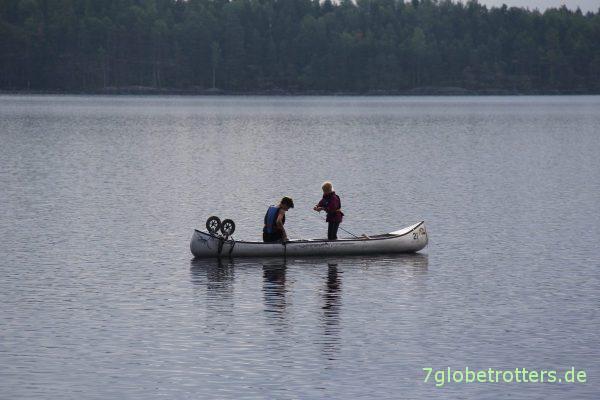 Kanutour mit Kindern in Schweden: Abendlicher Fischzug(versuch)
