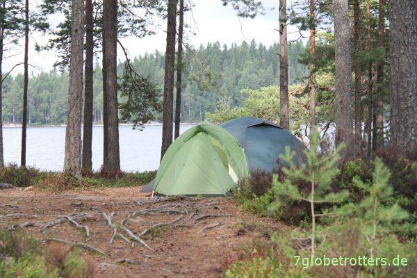 Kanutour mit Kindern in Schweden: Lagerplatz im Glaskogen