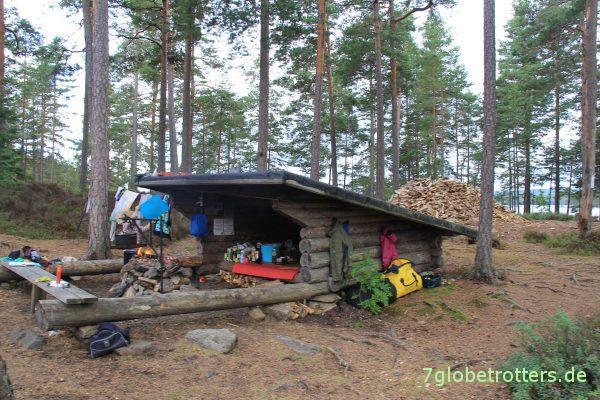 Schutzhütte im Glaskogen