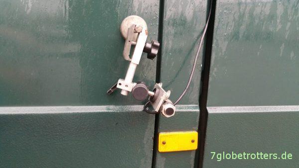 Versuchsanordnung zur Tachoanpassung bei digitalem Tachometer