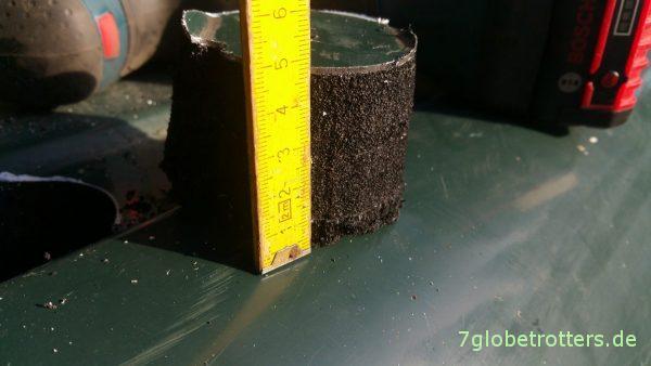 5 cm Armaflex-Dämmung